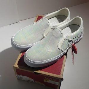 Vans Womens Asher Deluxe Iridescent Shoes